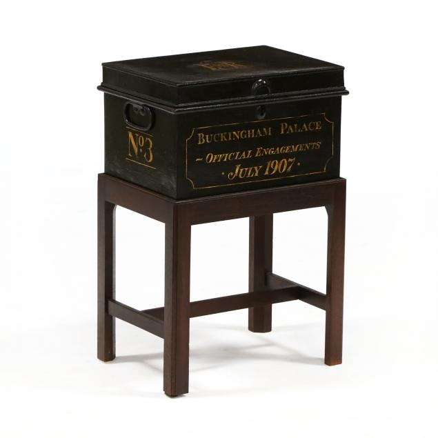 antique-english-tole-box-on-stand