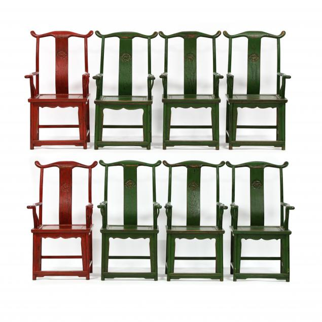 eight-chinese-painted-armchairs