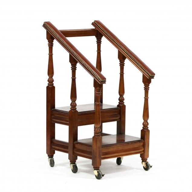 pulaski-furniture-mahogany-library-steps