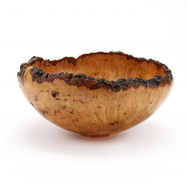 darrell-rhudy-nc-turned-maple-burlwood-bowl