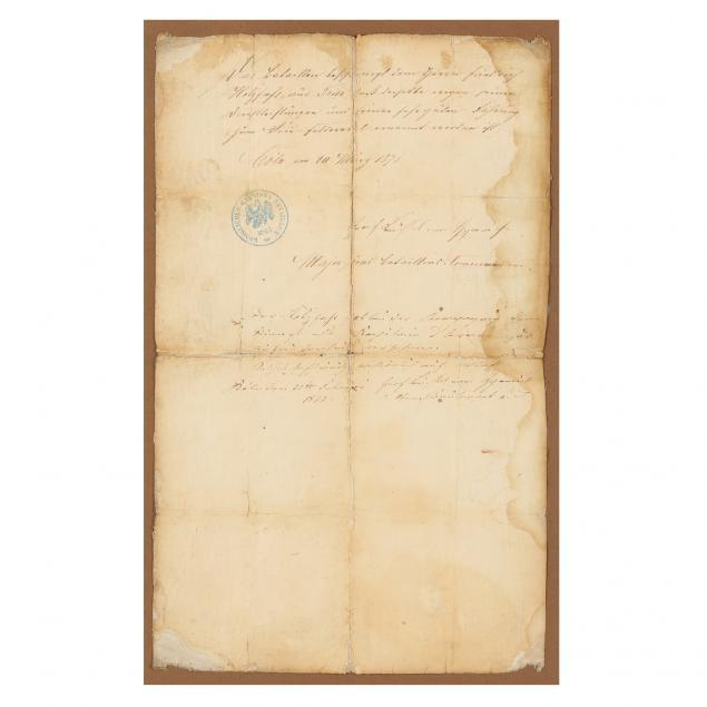 franco-prussian-war-german-soldier-s-promotion-document