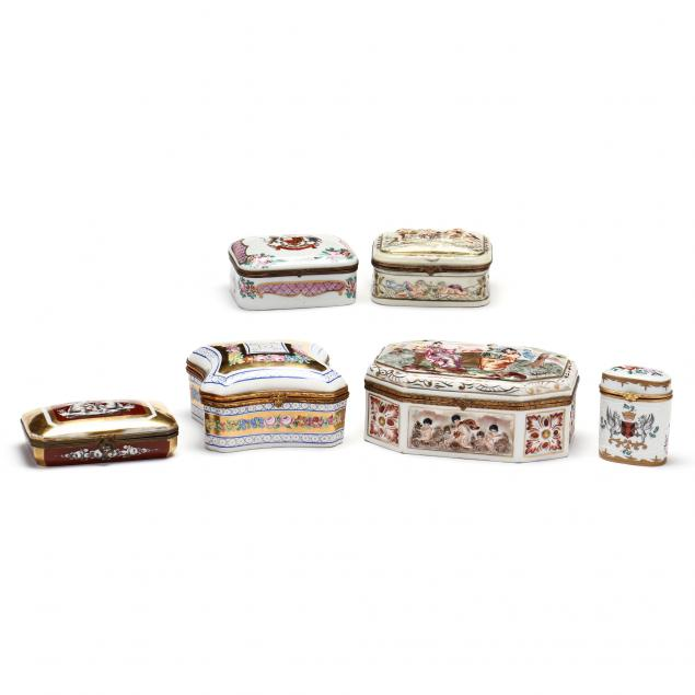 a-group-of-six-french-porcelain-dresser-boxes