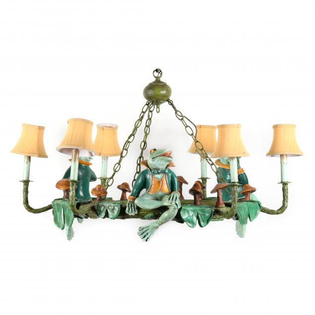 bill-huebbe-american-1929-2013-a-whimsical-six-light-frog-chandelier