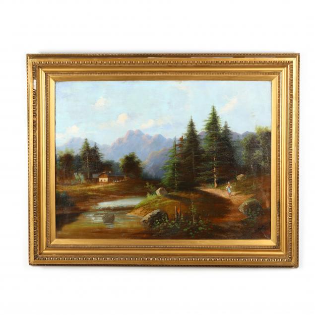 erich-bogdanffy-pauly-german-1869-1918-alpine-landscape-with-figure