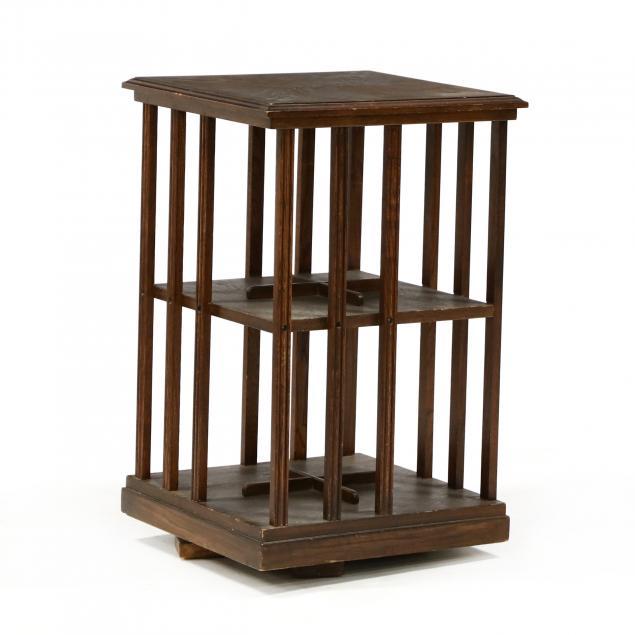 diminutive-rotating-oak-bookcase