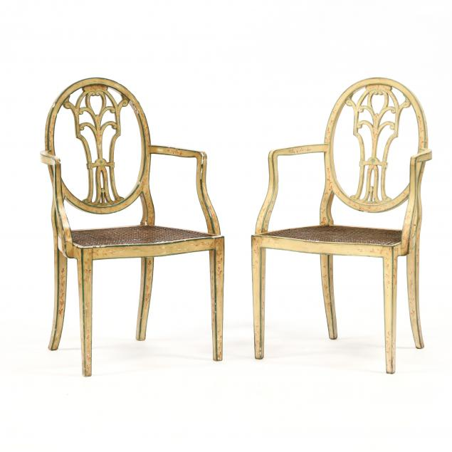 pair-of-adams-style-painted-armchairs