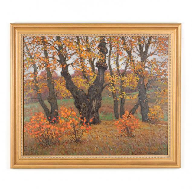 viktor-gertsenok-ukrainian-1934-2017-autumn-landscape