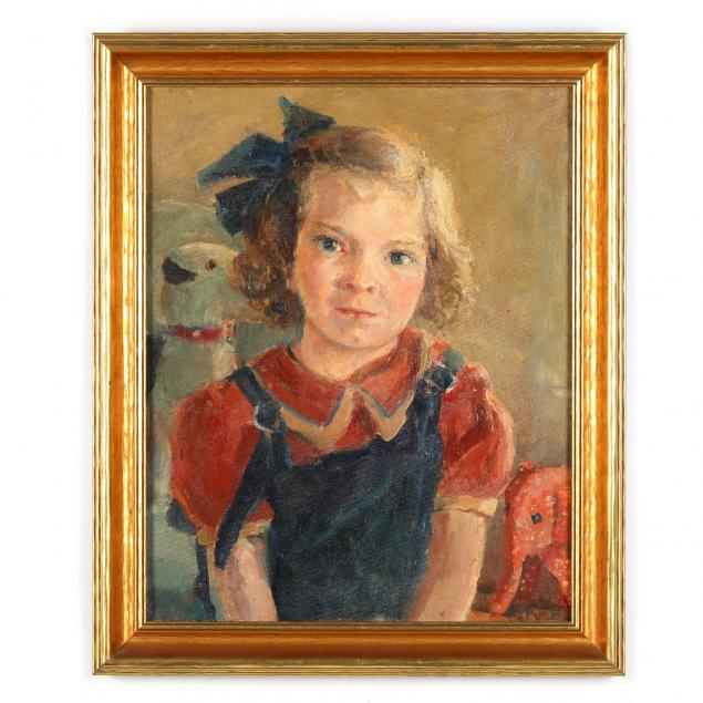 florence-robie-reed-holway-american-1915-2012-portrait-of-a-young-girl