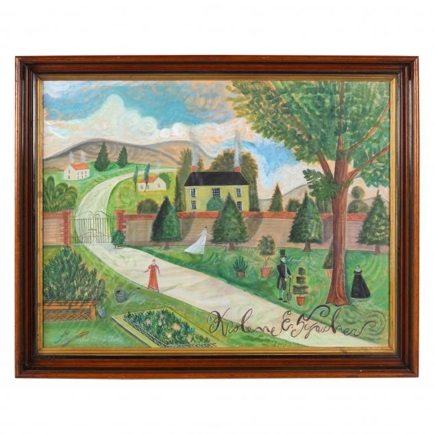 kolene-spicher-american-garden-scene-in-nantucket