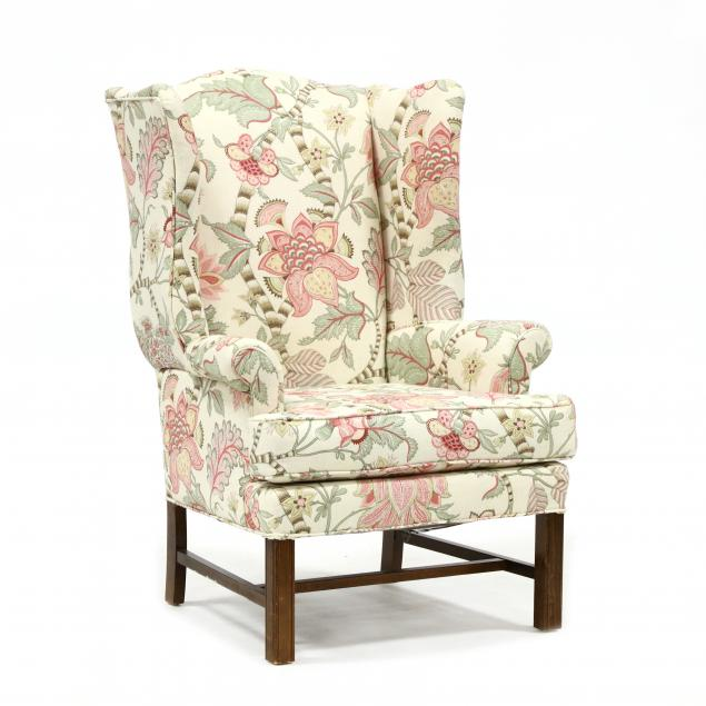 chippendale-style-upholstered-easy-chair