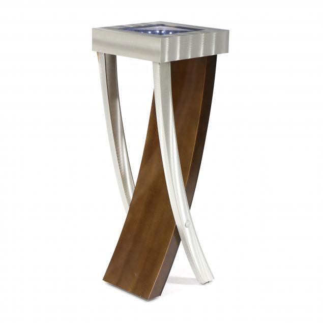 contemporary-brushed-steel-display-pedestal