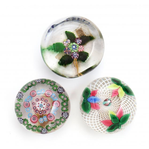 attributed-to-st-louis-three-glass-paperweights