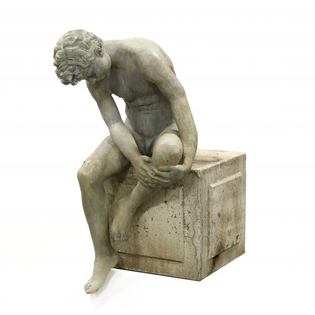 a-life-size-garden-sculpture-of-a-seated-figure