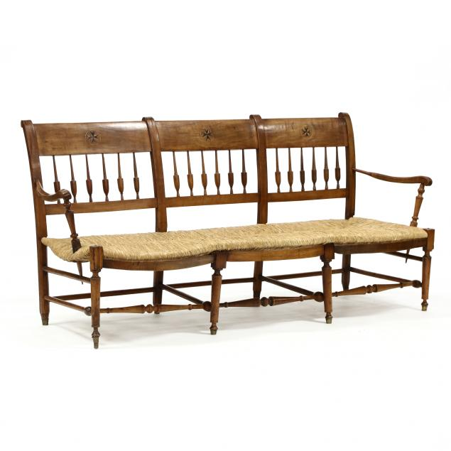 french-inlaid-cherry-triple-back-settee