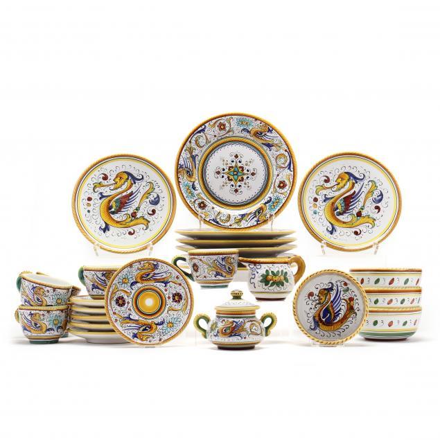 26-pieces-of-deruta-tableware