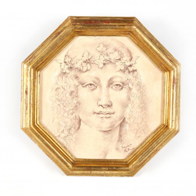 franco-matania-british-1922-2006-i-classical-maiden-with-leaf-crown-i