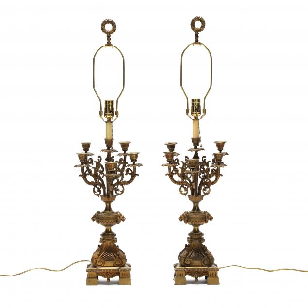 pair-of-antique-french-bronze-dore-candelabra-lamps