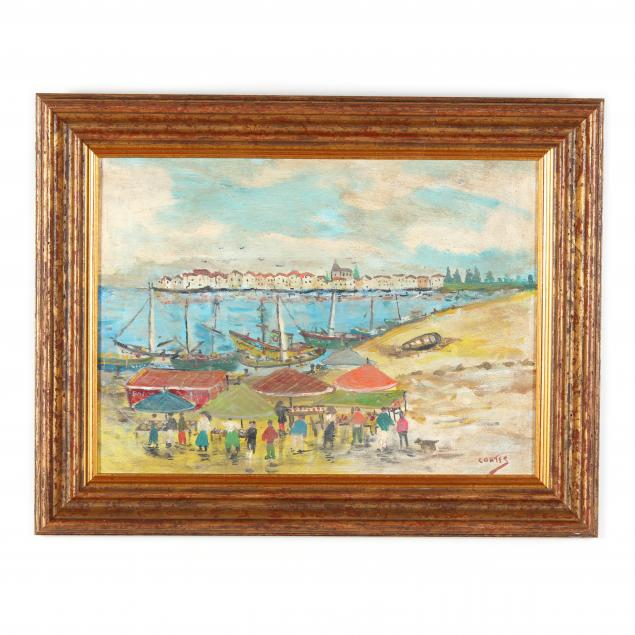 a-vintage-painting-of-a-seaside-market