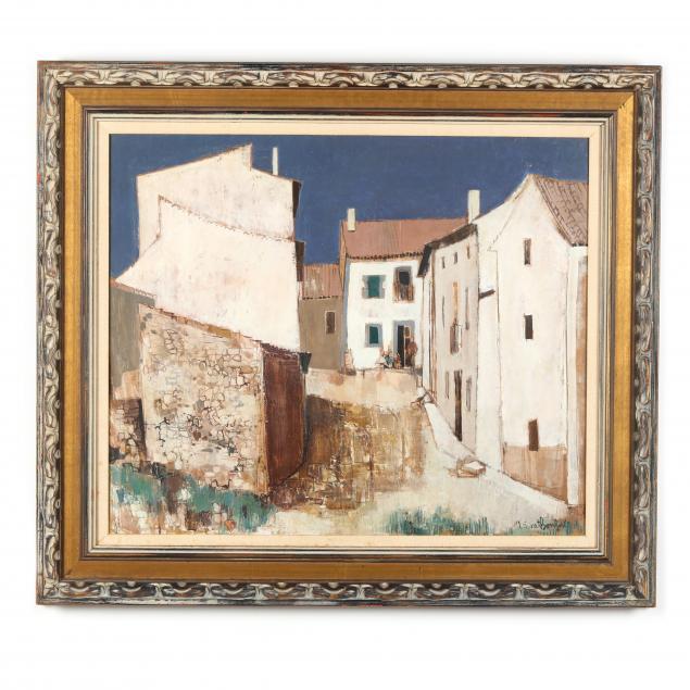 robert-vernet-bonfort-french-b-1934-i-une-rue-dan-village-castillan-pres-de-burgos-i