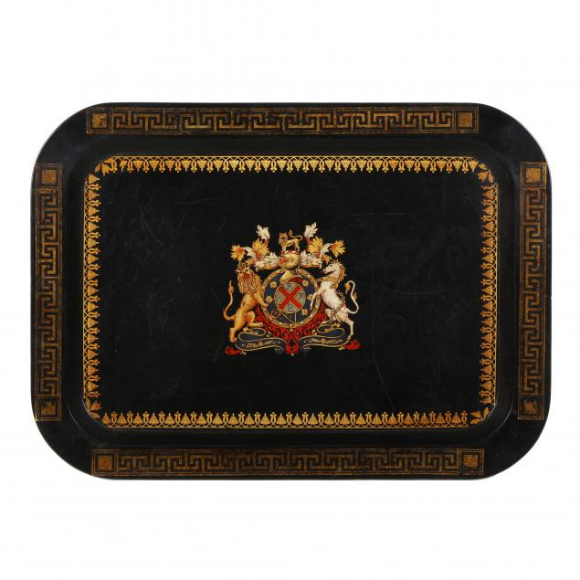a-papier-mache-tray-with-royal-coat-of-arms