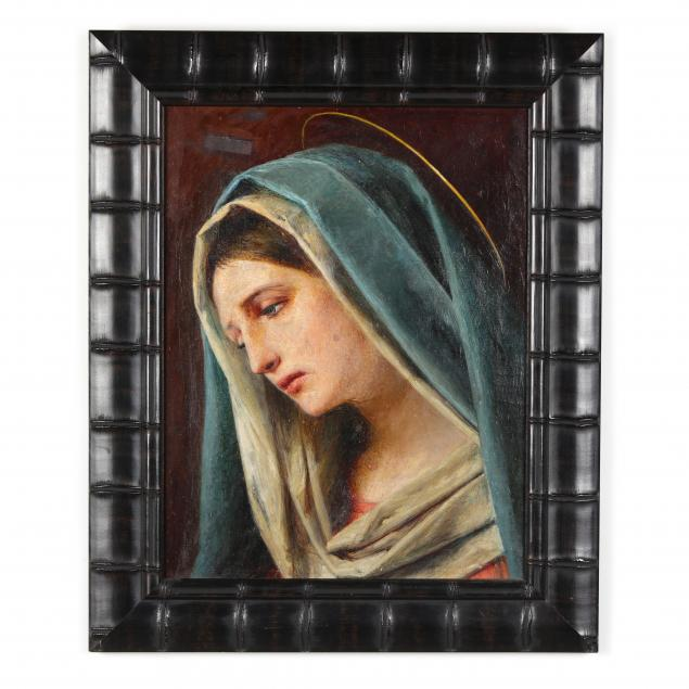 an-antique-painting-of-the-virgin-mary