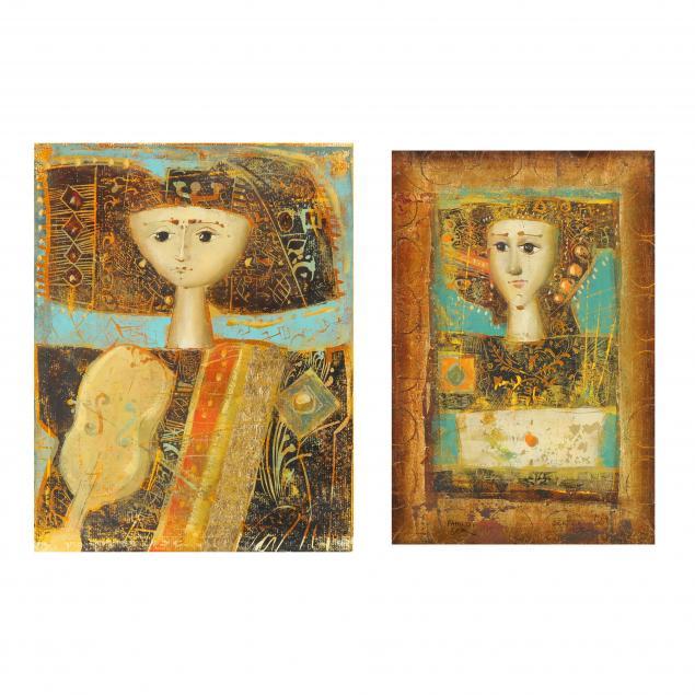 mersad-berber-bosnian-1940-2012-two-portraits