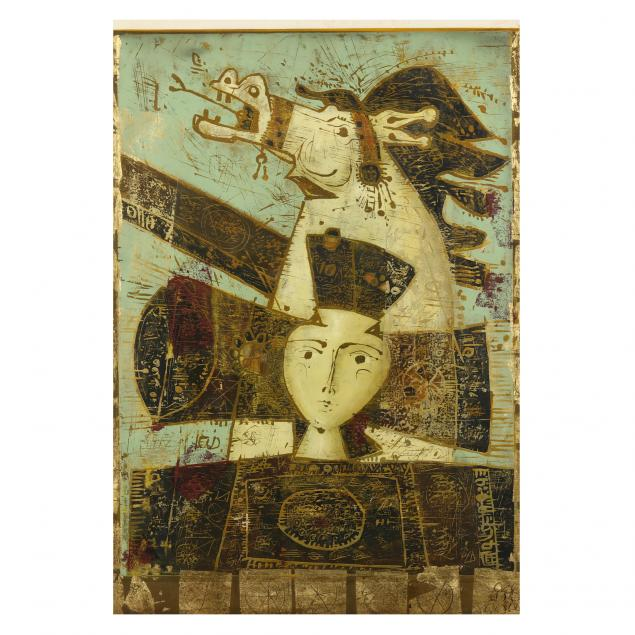 mersad-berber-bosnian-1940-2012-large-work-with-horse-and-figure