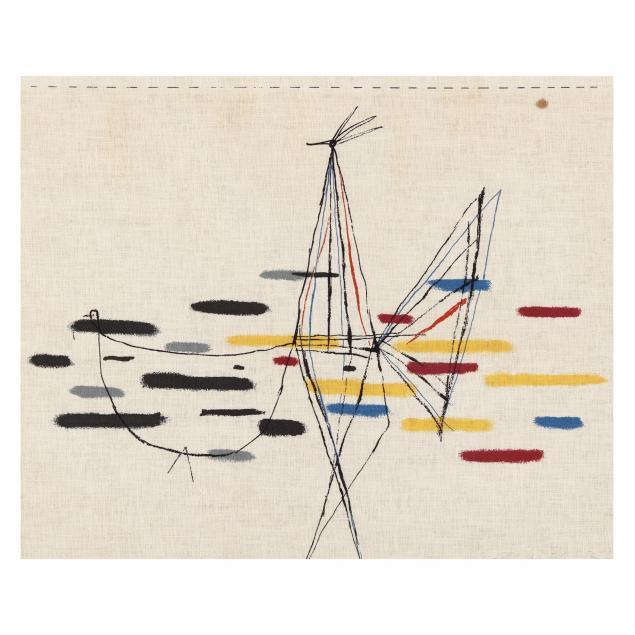 serbian-school-20th-century-abstract-print-on-linen