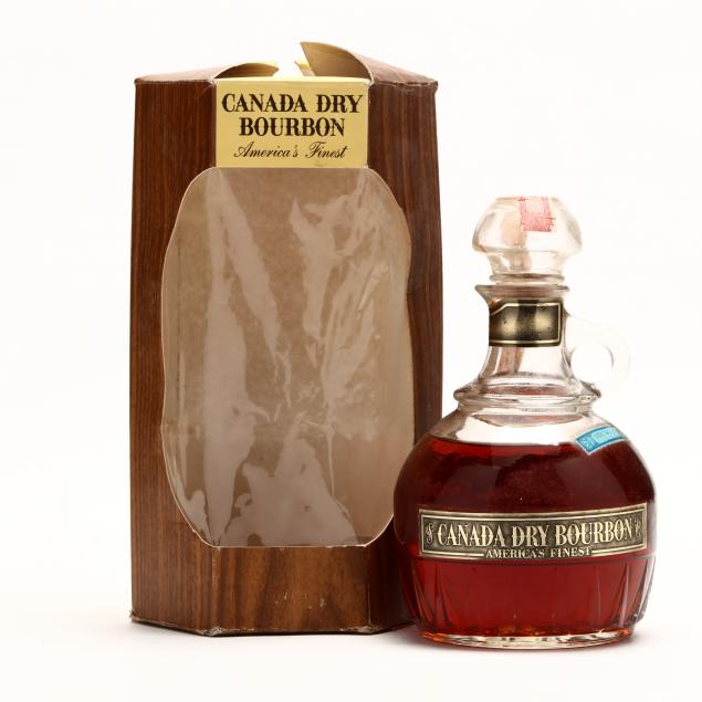 canada-dry-bourbon-in-glass-decanter