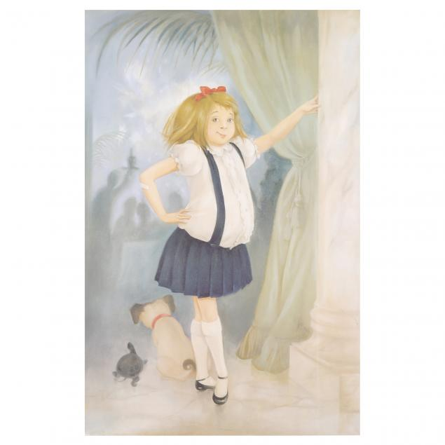 large-framed-print-of-eloise-signed-by-hilary-knight